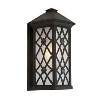 Artcraft Lighting Lattice 1 Light Outdoor Wall in Black AC8262BK