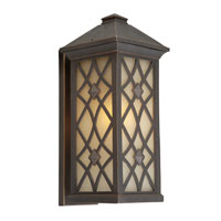 Artcraft Lighting Lattice 1 Light Outdoor Wall in Oil Rubbed Bronze AC8262OB
