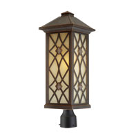 Artcraft Lighting Lattice 1 Light Post Head in Oil Rubbed Bronze AC8263OB