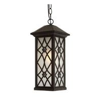 Artcraft Lighting Lattice 1 Light Outdoor Pendant in Black AC8265BK