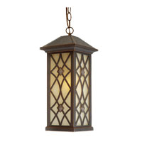 Artcraft Lighting Lattice 1 Light Outdoor Pendant in Oil Rubbed Bronze AC8265OB