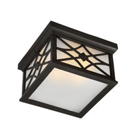 Artcraft Lighting Lattice 2 Light Outdoor Ceiling in Black AC8266BK