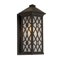 Artcraft Lighting Lattice 1 Light Outdoor Wall in Black AC8271BK