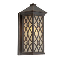 Artcraft Lighting Lattice 1 Light Outdoor Wall in Oil Rubbed Bronze AC8271OB