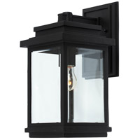 Freemont 1 Light 14 inch Black Outdoor Sconce