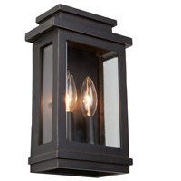 Freemont 2 Light 11 inch Oil Rubbed Bronze Outdoor Sconce