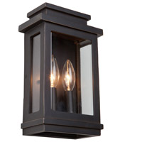 Freemont 2 Light 11 inch Oil Rubbed Bronze Outdoor Wall Sconce