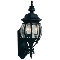 ARTCRAFT Classico 3 Light Outdoor Wall Mount in Black AC8360BK