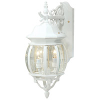 ARTCRAFT Classico 3 Light Outdoor Wall Mount in White AC8361WH