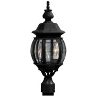 Artcraft AC8363BK Classico 3 Light 20 inch Black Outdoor Post Light