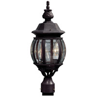 ARTCRAFT Classico 3 Light Post Lantern in Rust AC8363RU