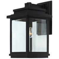 Freemont 1 Light 16 inch Black Outdoor Sconce