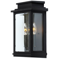 Freemont 2 Light 14 inch Black Outdoor Sconce