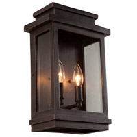 Freemont 2 Light 14 inch Oil Rubbed Bronze Outdoor Wall Sconce
