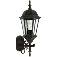 ARTCRAFT Tudor 1 Light Outdoor Wall Sconce in Rust AC8420RU photo thumbnail