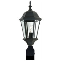 Artcraft Lighting Tudor 1 Light Post Head in Black AC8423BK