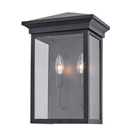 Artcraft AC8462BK Gable 2 Light 15 inch Black Outdoor Wall Sconce