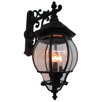 ARTCRAFT Classico 4 Light Outdoor Wall Mount in Black AC8491BK