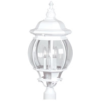 Classico 4 Light 28 inch White Outdoor Post Light