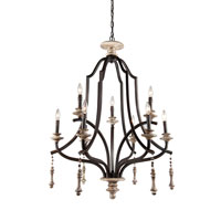 Artcraft Lighting Norwich 9 Light Chandelier in Distressed Wood AC859 photo thumbnail