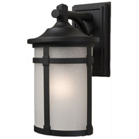 ARTCRAFT St. Moritz 1 Light Outdoor Wall Mount in Black AC8631BK