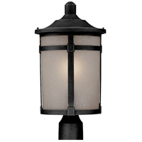 ARTCRAFT St. Moritz 1 Light Post Lantern in Black AC8643BK