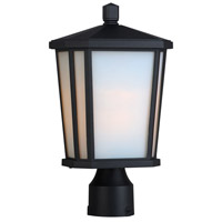 Hampton 1 Light 16 inch Black Post Lantern