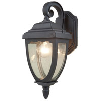 Oakridge 1 Light 15 inch Black Outdoor Wall Sconce