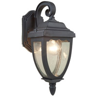 Oakridge 1 Light 20 inch Black Outdoor Wall Light