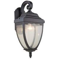 Oakridge 1 Light 24 inch Black Outdoor Wall Light