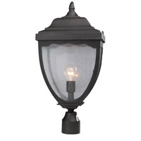 Oakridge 1 Light 24 inch Black Outdoor Post Light