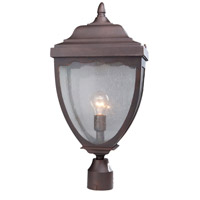 ARTCRAFT Oakridge 1 Light Post Lantern in Black AC8923BK