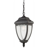Oakridge 1 Light 12 inch Black Outdoor Pendant