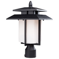 ARTCRAFT Bayshore 1 Light Post Lantern in Black AC8943BK