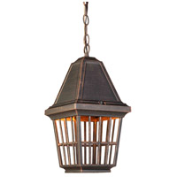 ARTCRAFT Castille 1 Light Outdoor Pendant in Rust AC8965RU