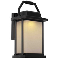 Lemans LED 14 inch Black Outdoor Wall Light