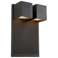 Fontana LED 12 inch Black Outdoor Sconce