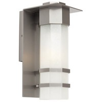 Bedford 1 Light 14 inch Silver Leaf Outdoor Wall Light