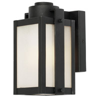 Artcraft Lighting Deacon Street 1 Light Outdoor Wall Sconce in Black AC9061BK