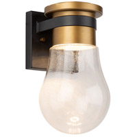 Artcraft AC9100VB Clareville LED 11 inch Black and Harvest Brass Outdoor Wall Light