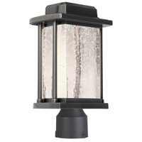 Addison LED 15 inch Slate Outdoor Post Light in Silver Leaf