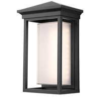Overbrook LED 14 inch Black Outdoor Wall Sconce