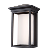 Overbrook LED 17 inch Black Outdoor Wall Sconce