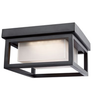 Overbrook LED 8 inch Black Outdoor Flush Mount