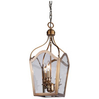 Artcraft Lighting Cambridge 3 Light Foyer Lantern in Antique Brass AC944AB