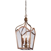 Artcraft Lighting Cambridge 4 Light Foyer Lantern in Antique Brass AC946AB