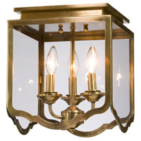 Artcraft Lighting Cambridge 3 Light Semi Flush in Antique Brass AC947AB