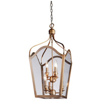 Artcraft Lighting Cambridge 6 Light Foyer Lantern in Antique Brass AC948AB