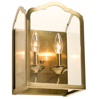Cambridge 2 Light 9 inch Antique Brass Wall Bracket Wall Light