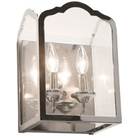 Cambridge 2 Light 9 inch Chrome Wall Bracket Wall Light